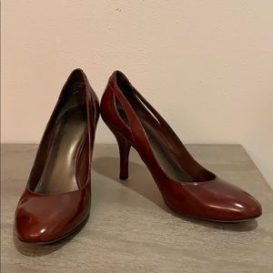 Brown Leather Nine West Heels